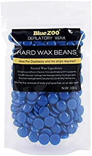 BlueZOO Hard Wax Beans for Hair Remove 100g, Blue, Chamomile
