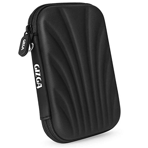 "GIZGA 2.5"" Hard Drive Case Self Tattoo Hard Shell (Black)"