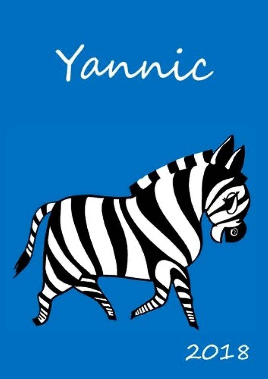 火山学ロードされた動詞2018: personalisierter Zebra-Kalender 2018 - Yannic - DIN A5 - eine Woche pro Doppelseite