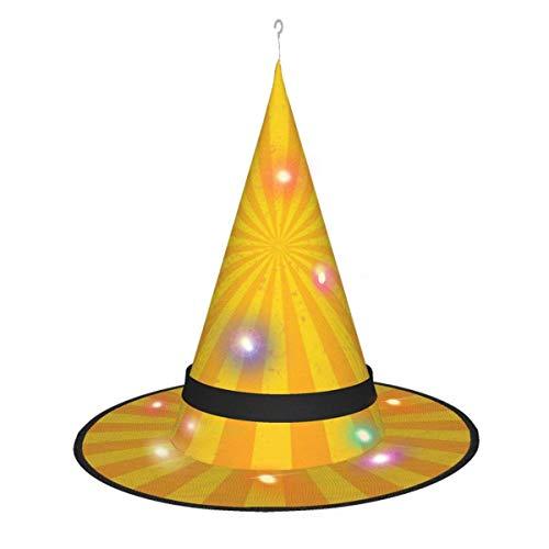 rouxf Sombreros de Bruja Brillantes iluminados Colgantes diseados por el Sol Accesorio de Disfraz de Halloween para Fiesta de Halloween Mascarada Cosplay