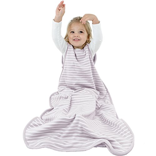 Woolino Toddler Sleeping Bag, 4 Season, Merino Wool Baby Wearable Blanket, 2-4 Years, Lilac