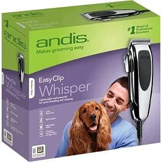 Andis EasyClip Whisper Super Deluxe Pet Clipper Kit (12 Pieces)