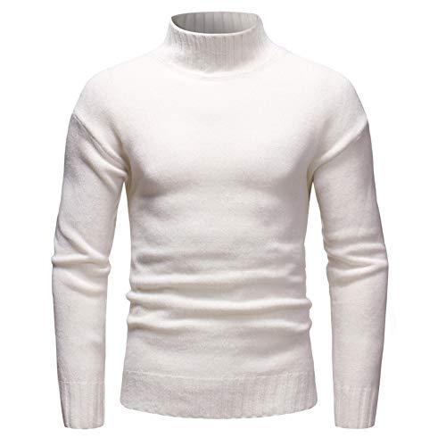 ZYUD Mens Jumpers High Roll Neck Knit Sweater Slim Fit Warm Turtleneck Pullover Mens Jumper Turtleneck Sweater Knitted Jumpers Basic Pullovers Knitwear Sweatshirt Winter Sweater