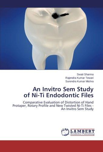 An Invitro Sem Study  of Ni-Ti Endodontic Files: Comparative Evaluation of Distortion of Hand Protaper, Rotary Profile and New Twisted Ni-Ti Files - An Invitro Sem Study