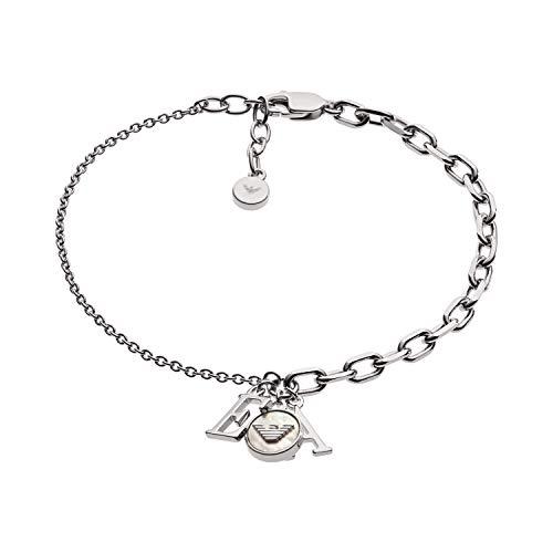 Emporio Armani Damen-Kettenarmband 925 Sterlingsilber Perlmutt EG3387040