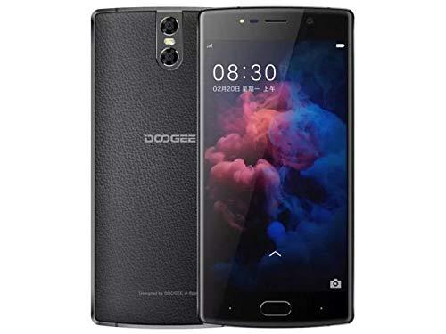 DOOGEE BL 7000-5.5 Inch FHD Android 7.0 Smartphone con la batería 7060mAh, cámaras triples, Textura de Cuero + Cuerpo de Metal, MTK6750T Octa Core 4GB + 64GB- Negro