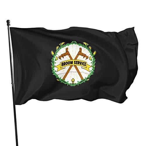Broom Service- Bandera grande en la parte frontal, 3 x 5 pies