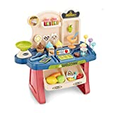 Super-ele Ice Cream Toy Cart Play Set for Kids Supermarket Toy Set Cash Register Pretend Play Children's Simulation Shopping Cart Convenience Store Educational for Toddlers Birthday Gift for Boys Girl