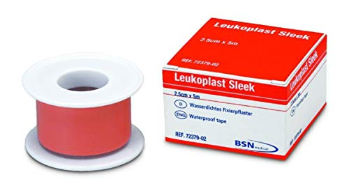 BSN Leukoplast Sleek High Strength Waterproof Adhesive Tape, 2.5cm x 5m, Pack of 1