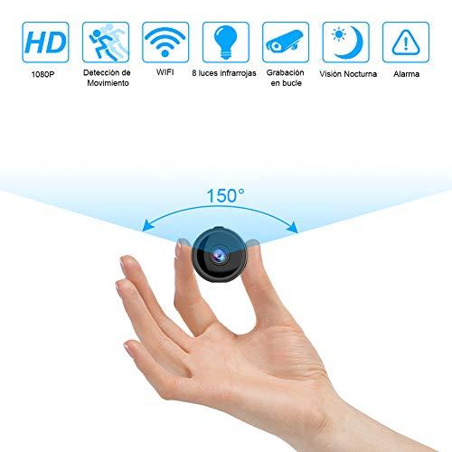 RIRGI Koiteck Cámaras espía Oculta, Cámaras Espía WiFi 1080P HD, con IR Visión Nocturna Detector de Movimiento,...