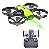 Loolinn | Drones con Camara para Niños - Mini Drone Cuadricóptero, Dron con Cámara Ajustable / FPV Transmisión en Tiempo Real Fotos y Videos / Incluye Tres Baterías (Idea para Regalo)