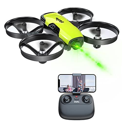 Loolinn | Drone con Telecamera per Bambini Regalo - Mini Drone FPV, Droni Telecomandati Quadricotteri con Telecamera Orientabile   Funzione di Trasmissione in Tempo Reale FPV   Tre Batterie Incluse