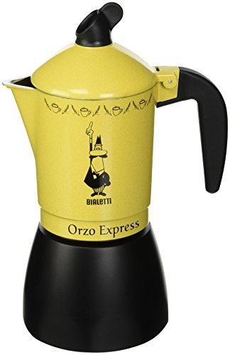 Bialetti Moka Orzo Express, Orge Cafetière Italienne, Aluminium, 4 Tasses
