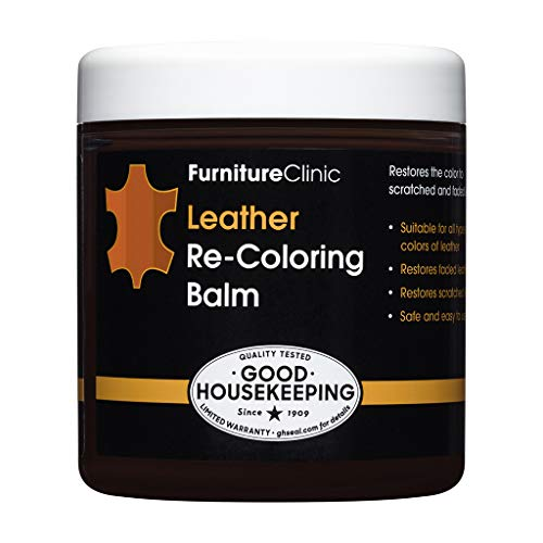 Furniture Clinic Leather Recoloring Balm (8.5 fl oz) - Leather Color Restorer for Furniture, Repair Leather Color on Faded & Scratched Leather Couches - 16 Colors of Leather Repair Cream (Tan)
