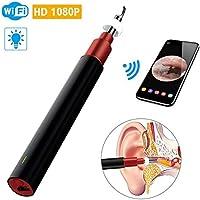 SY-CC 3.9mm WiFi a Otoscopio, Visual Limpieza del oído del oído 1080P Recogida Equipo de cámara en Miniatura Cuchara endoscopio electrónico - La mayoría de los Dispositivos,Negro