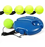<span class='highlight'><span class='highlight'>SUIYUE</span></span> Self-learning portable tennis rack with ball elastic rope, floor rebound tennis sparring device, suitable for beginners and intermediate players (5 balls)