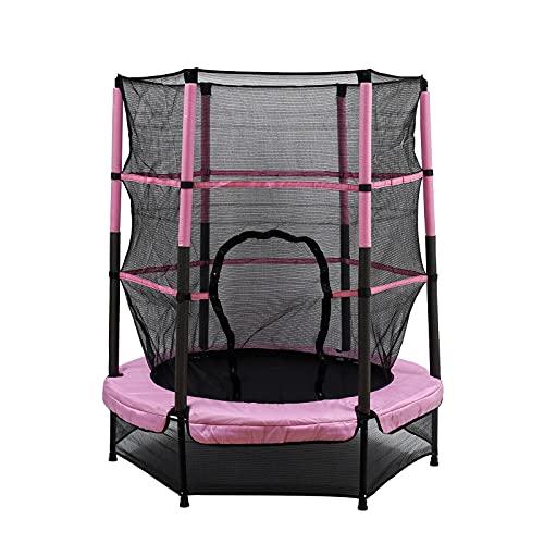 Cama elástica para niños con red de protección, cama elástica plegable para...