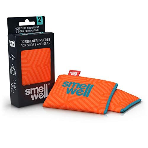 SmellWell Trocknungs- und Erfrischungskissen für Schuhe, Sporttaschen oder sogar das Auto - versetzt mit einem frischen Duft (Geometric Orange)