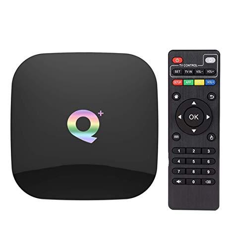 Android 9.0 TV Box,DAHOMI Q Plus Smart TV Box 4 GB RAM 64 GB ROM H6 Quadcore cortex-A53 Up to 2.4GHz WiFi Supporto 3D 6K H.265 HDMI 2.0 USB 3.0 Android Box