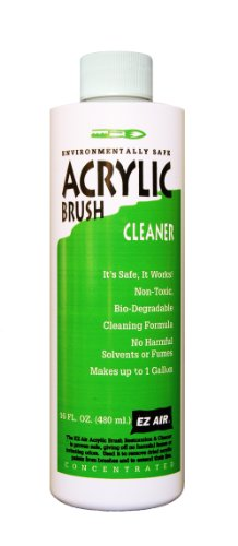 EZ Air Acrylic Brush Cleaner Bottle, 16-Ounce