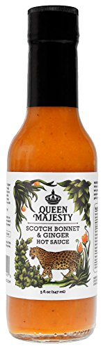 Queen Majesty Hot Sauce Sauce Hot Scotch Bonnet Ginger 5 Fl Oz