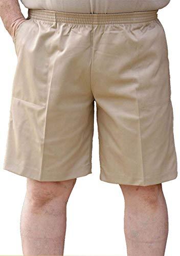 CK Sportswwear The Senior Shop Men's Elastic Waist Twill Walking Short X-Large Khaki