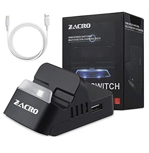Zacro Switch Docking Station für Nintendo Switch, Ladestation Tragbarer mit Bluetooth Audio, Multi-Angle und Thermischem Design, Switch Base mit Type-C Schnellladekabel