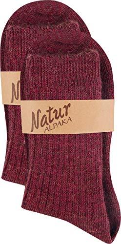 RS. Harmony | Socken & Strümpfe für Damen | Weich & Warm Edle Alpakawolle | 2 Paar | fuchsia | 39-38