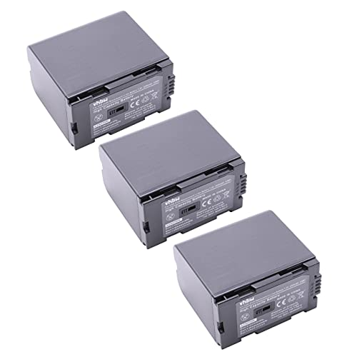 vhbw 3X Batería Recargable reemplaza Hitachi DZ-BP16, DZ-BP28 para cámara de vídeo, videocámara (3200 mAh, 7,2 V, Li-Ion)