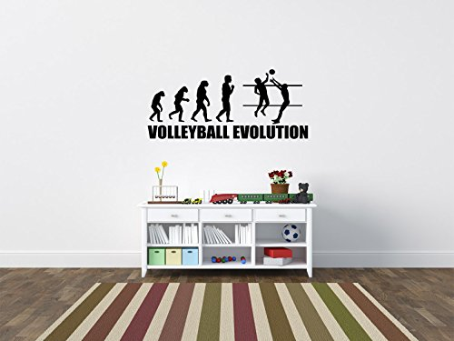 Comedy Wall Art Volleyball Evolution - Schwarz - ca. 105 x 45 cm