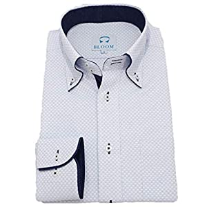 (ブルーム) BLOOM オリジナル 長袖 ワイシャツ 形態安定 ブルーラティス 9 4L
