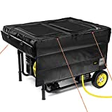 IGAN Generator Tent Running Cover Pro-Max, Ultra Heavy Duty Tarpaulin Enclosure with Windproof Kit, Portable All-Weather Generator Rain Shelter for Most 3500w-12000w generators, Black