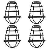 Industrial Light Bulb Cage 4 Pack, DIY Vintage Style Light Cage for Pendant Light Wall Lamp, Edison Lamp Guard, Industrial Lamp Cage