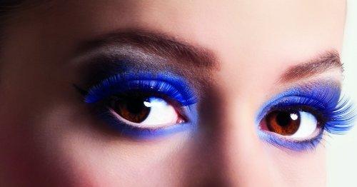 Faux cils courts bleus adulte - taille - Taille Unique - 221549