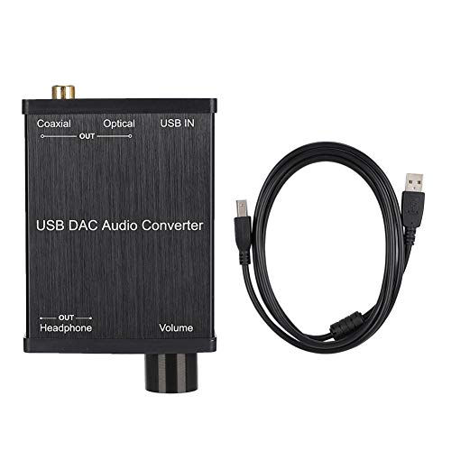 DAC-digitale analoge audioconverter, USB-audio-geluidskaart, coaxiale conversie DAC-digitale audioconverter voor PS4 Windows 10 / Windows 8.1/8 / Windows 7