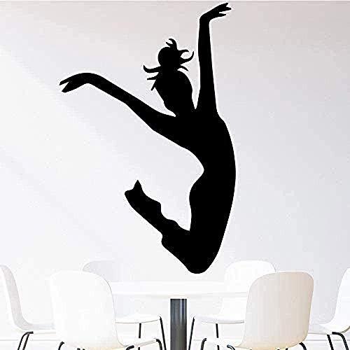 Personalidad,dormitorio chico y chica DIY,Innovador,extraíble,reutilizable,Dancing Girl Wall Art Decal PVC DIY Mural Art Sala de estar Sofá Telón de fondo Decoración Accesorio 58X89cm