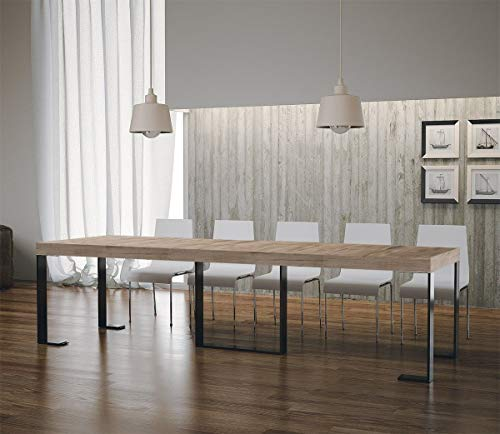 Itamoby Futura Premium Consolle Allungabile, Pannelli di Nobilitato, Rovere Natura/Antracite, 90 x 40 x 77