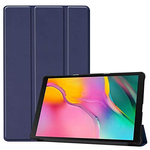 RZL Pad y Tab Fundas para Samung Galaxy Tab 10.1 A 2019, tríptico Cuero del Soporte de la PU de la Caja Protectora de la Tableta para el T510 T515 T510 SM-SM-T515 liberan la Pluma + Film