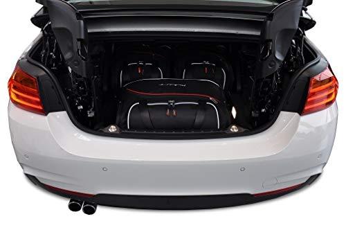 KJUST Dedizierte Kofferraumtaschen 3 STK kompatibel mit BMW 4 Cabrio F33 2013 -
