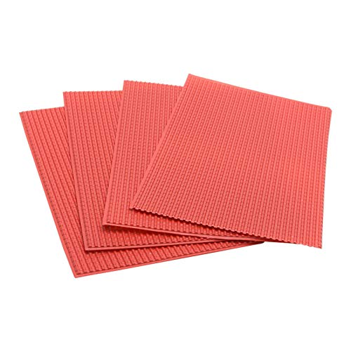 GeKLok 4 Stück Miniatur-Dachziegel DIY 1/25, 1/50 Maßstab Puppenhaus Modellbau Sandtisch PVC Miniatur-Dachziegel Tapete - Geeignet für eine breite Anwendung