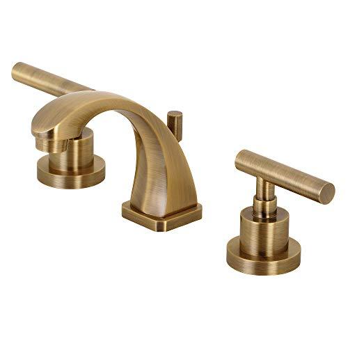 Kingston Brass KS4943CML Manhattan 8' Widespread Bathroom Faucet, Antique Brass