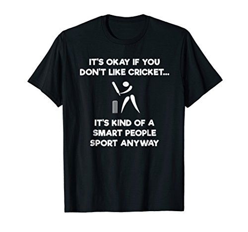 Cricket Game T-Shirt - Funny Smart - Player