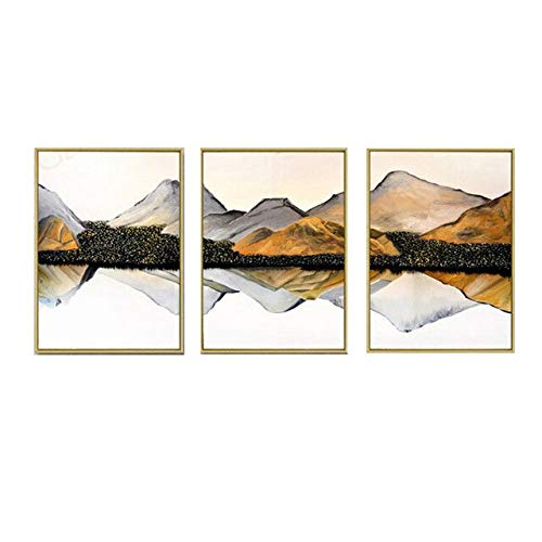 N / A Decorative Painting Abstract Landscape Living Room Background Wall Painting Bedroom Home Decoration Frameless 80x110cm