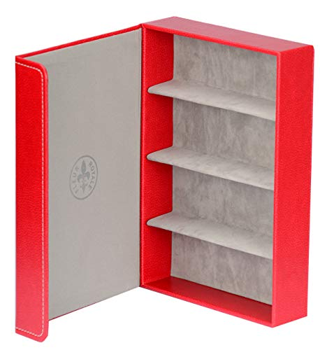 Brillenbox Mehrbrillenetui Brillenetui bis zu 4 Brillen Quartett wild spirit (rot) Größe 246x175x51 mm robust & edel !