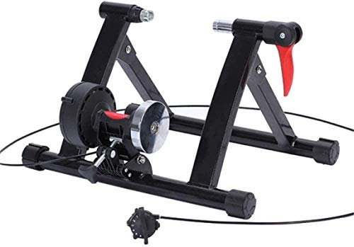 Bicycle Trainer Stand Steel Bicycle Exercise Magnetic Stand with Noise Reduction Wheel for Road Bike 20-22 Inch Small Wheel Bicycle Training for Women And Men For All-Season Training Uptodate