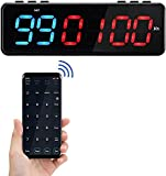 Vogvigo Magnetic Interval Timer, Portable Fitness Timer with Bluetooth APP Control, Mini Shape and Big Font, Wall Gym Timer with 11 Timing Modes Designed for All Sports, Training & Skill Levels