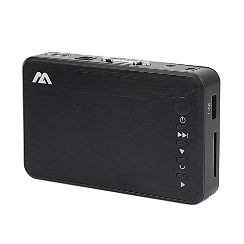 AWIS Mini Reproductor Multimedia HD,Reproductor Portátil de Disco Duro USB para Oficina de Auto en Casa