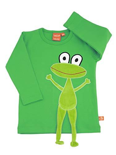 Lipfish t-Shirt à Manches Longues avec des Animaux appliqués, Dessin Suédois, 100% Coton, Fuchsia T-Rex, 4 Ans.
