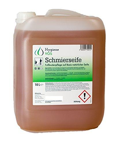 10 Liter Hygiene VOS Schmierseife Fußbodenpflege auf Basis natürlicher Seife. Für wasserbeständige Oberflächen, empfindliche Steinböden Keramikböden