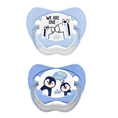 nip Schnuller Family kiefergerecht: Mindert Druck auf Zähne & Kiefer, Made in Germany, BPA-Frei, Größe 3, 16-32 Monate, Silikon, Boy
